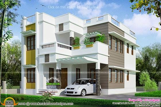 Beautiful 2145 Square Feet House Kerala Home Design