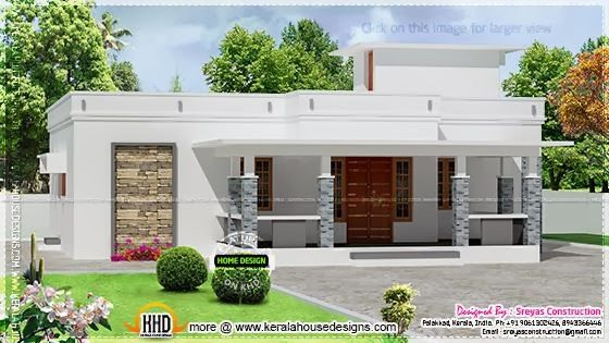 small house elevation with 3d rendering and 2d drawing - 2d House Elevation Designs In