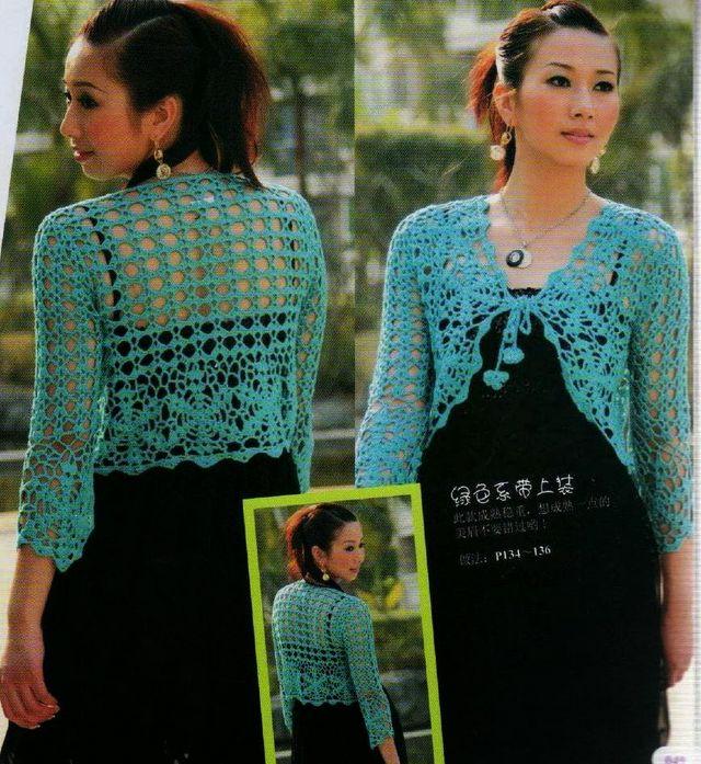 Free Crochet Charts and Instructions for 2 Pretty Summer Boleros ...