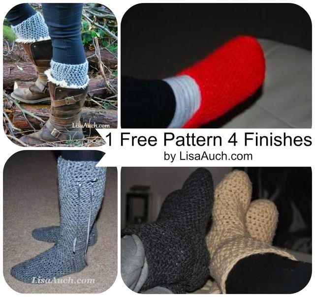 5 Free Easy Crochet Slipper Patterns Free Crochet Patterns