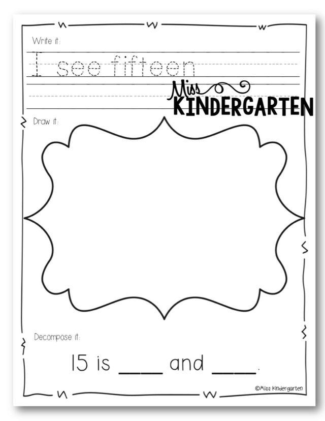 Number Practice & A SALE!! | Miss Kindergarten | Bloglovin\'