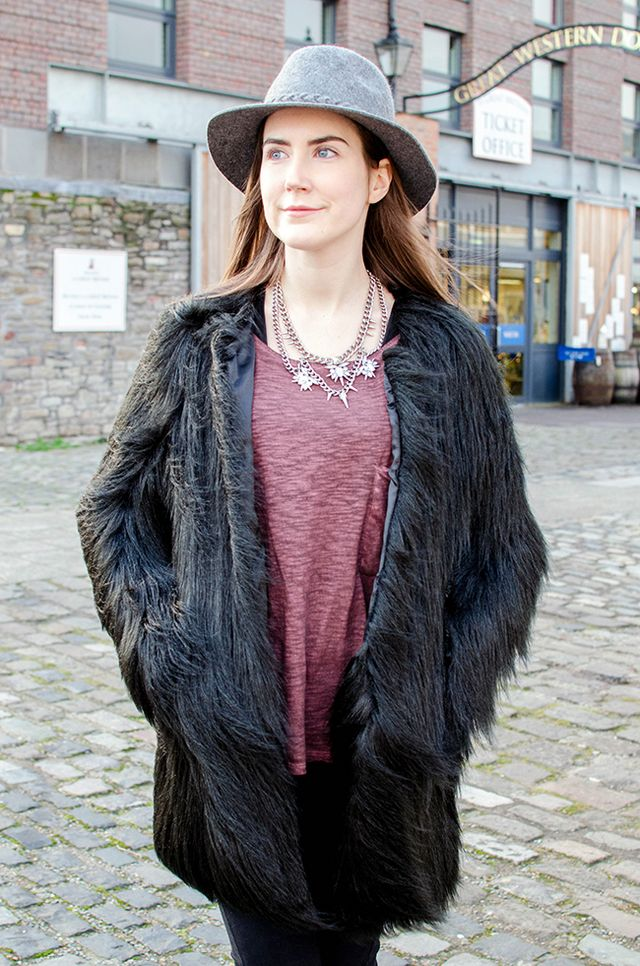 f57629c2a3d3c Unreal Fur Wanderlust Coat in Black: Was £199 Sale price: £135. I've been a  huge fan of Unreal Fur since it launched at The Dressing Room in 2013, ...