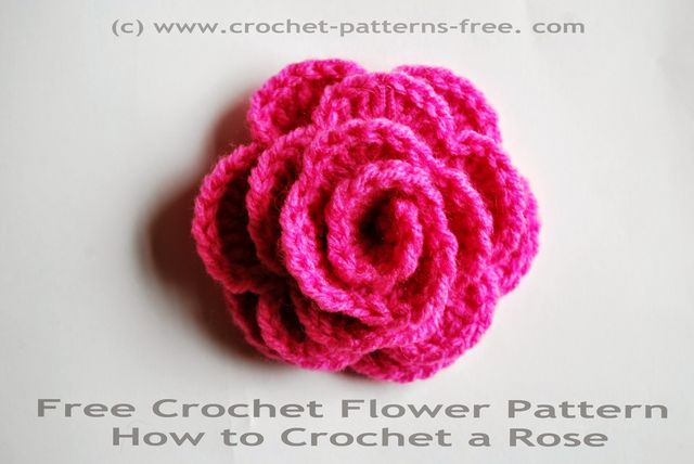 Free Crochet Flower Pattern How To Crochet A Rose Free Crochet