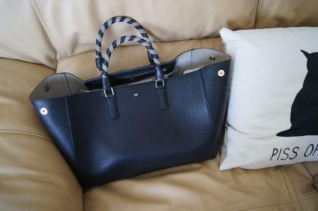 5da1cbd5279e What s in my handbag  The Anya Hindmarsh Smiley Maxi Featherweight Ebury  Tote