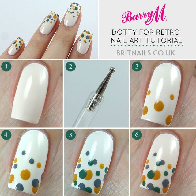 Dotty For Retro Nail Art Tutorial For Barry M Brit Nails Bloglovin
