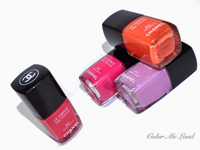 Chanel Le Vernis 615 Sweet Lilac 619 Pink Tonic 621 Tutti Frutti And 623 Mirabella You Know My Obsession About Purple Lavender All