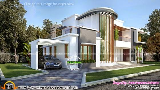 New modern villa plan kerala home design bloglovin for New villa design
