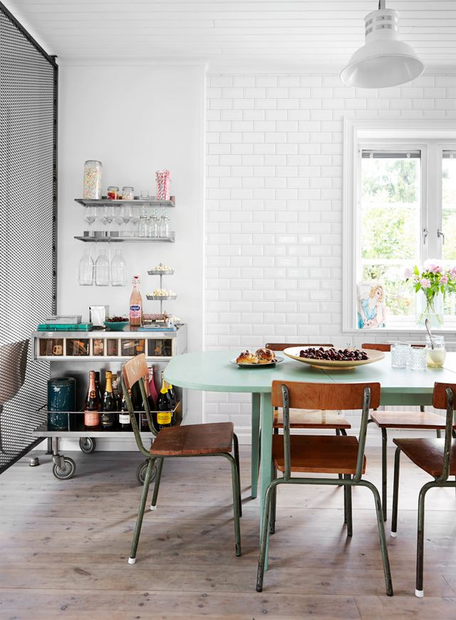 Industrial Style And Pastel Colors In Scandinavian Villa