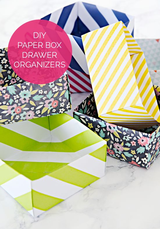 Diy paper box drawer organizers and an organized for I heart organizing