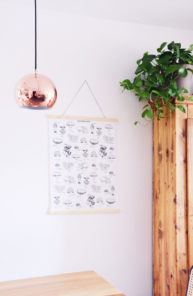 DIY & Interior: Fabric Mounting or how to hang a dish towel ...