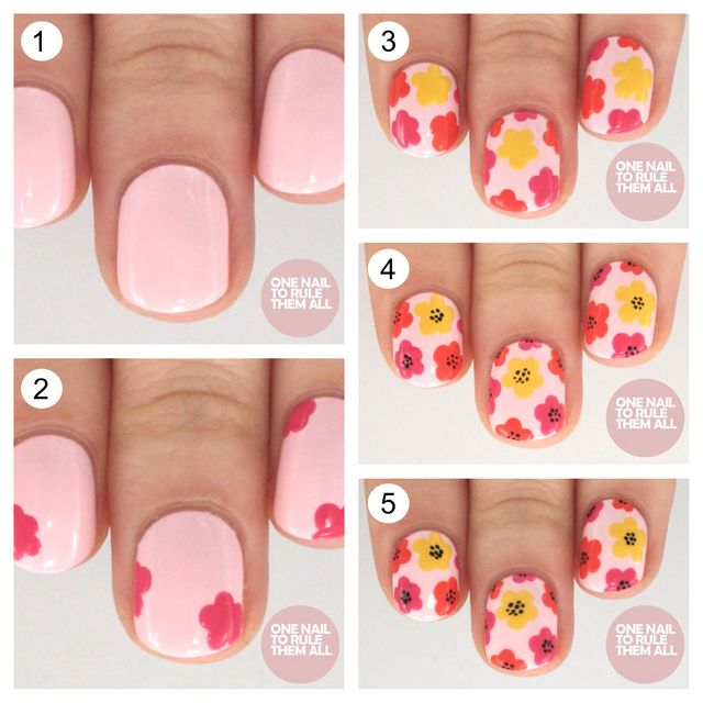 Another Flower Nail Tutorial: Tutorial Tuesday: Mod Flowers For Avon