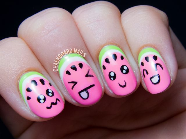 Kawaii Watermelons, or How to Make Your Fruit Cute | Chalkboard ...