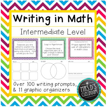 writing prompts middle school math