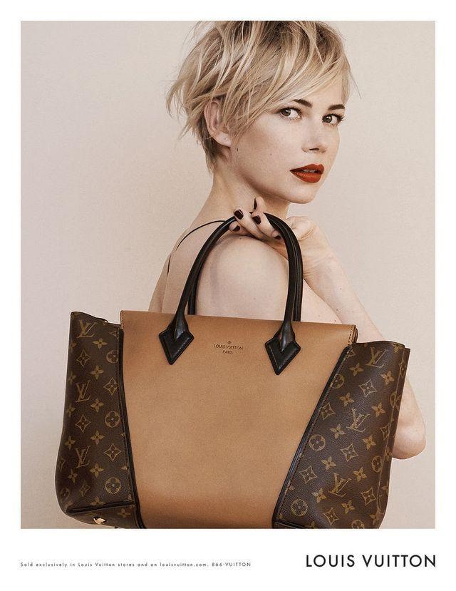 c2e38ac26e1b Michelle Williams: Louis Vuitton Ad Campaign Featuring The 'W' Tote and  'Capucines' Bag