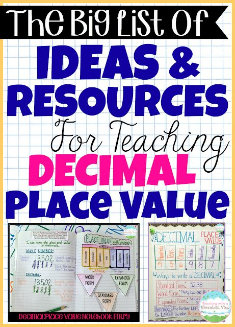 Decimal Place Value Resources Teaching Ideas Teaching With A