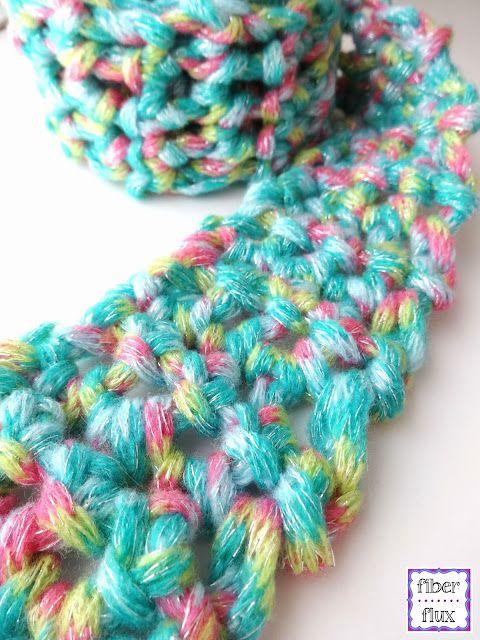 Free Crochet Pattern Fun Finger Crochet Scarf For Kids