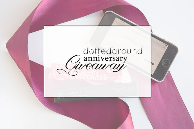 Anniversary Giveaway Dotted Around Bloglovin