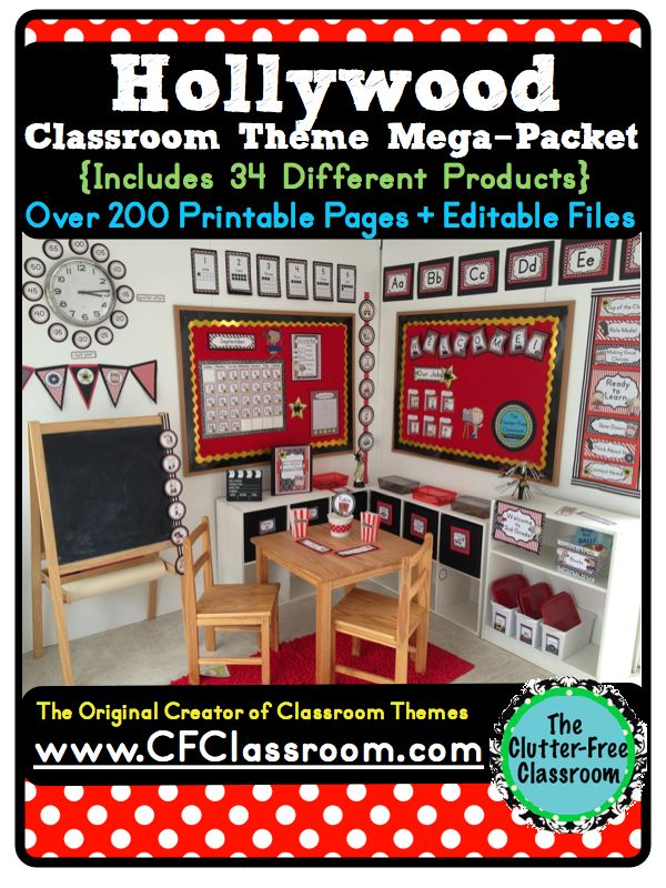 hollywood themed classroom photos printables and ideas for