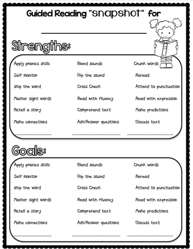 Conference Form and Rubrics for the Primary Grades