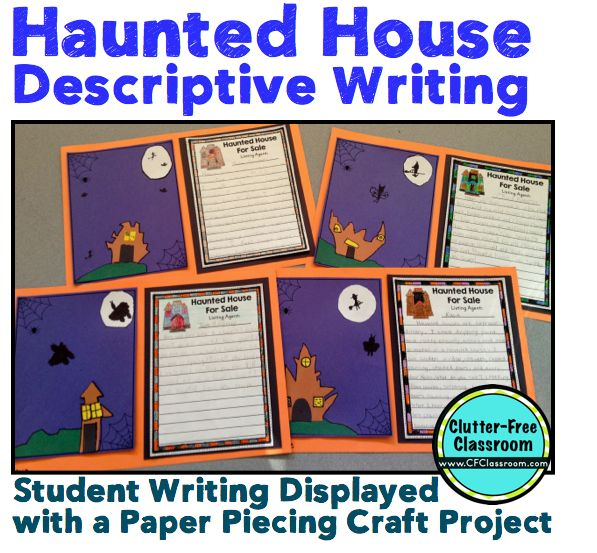 haunted house for descriptive writing activity common core  haunted house for descriptive writing activity common core writing halloween craft