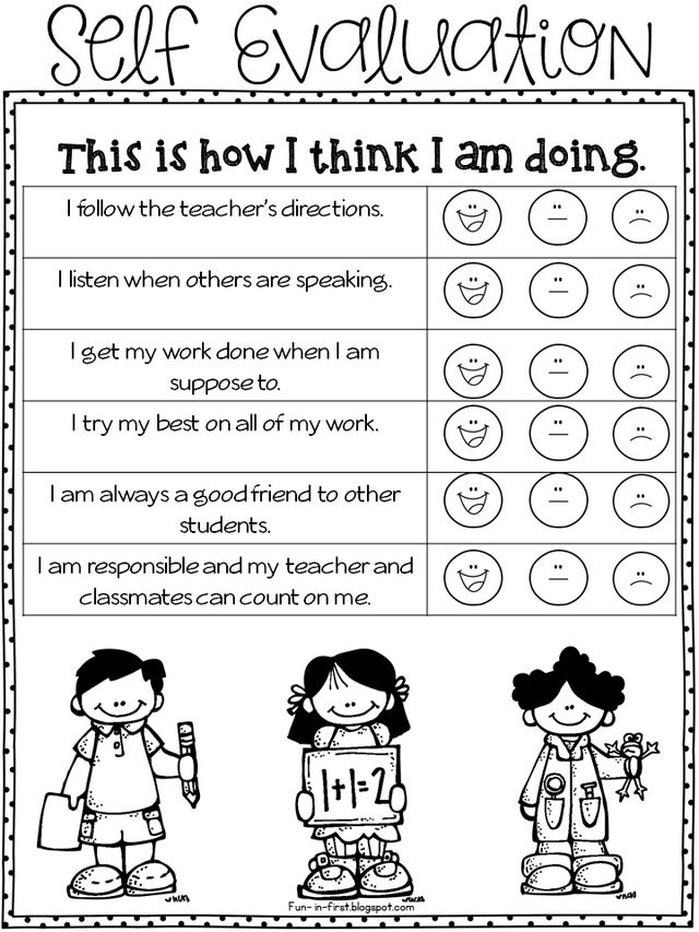 Parent Teacher Conference Forms Freebielicious – Student Self Evaluation Form