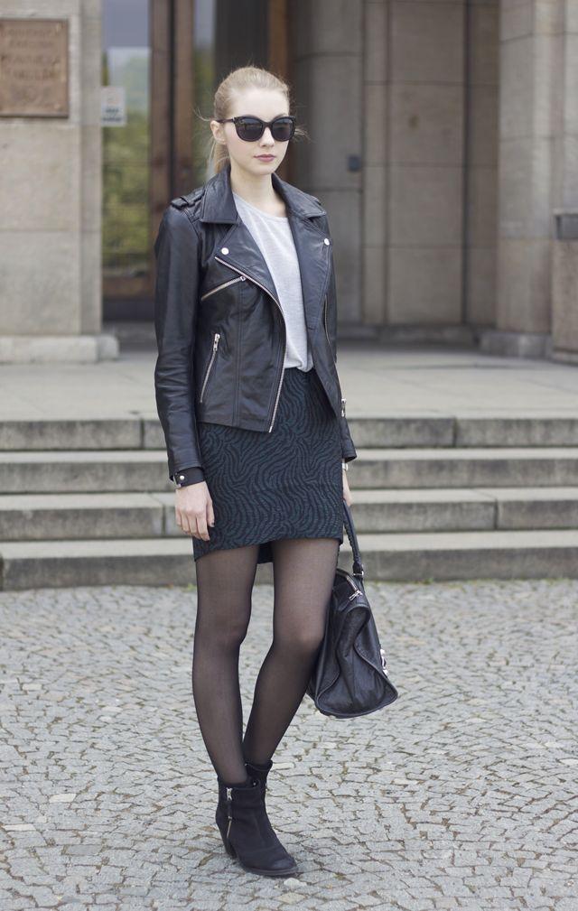 5e6d91f4 H&M TREND skirt. TOPSHOP top and shoes. PULL&BEAR jacket. BALENCIAGA bag.  CASIO watch. LINDEX bracelet. photos by Martin Ducai