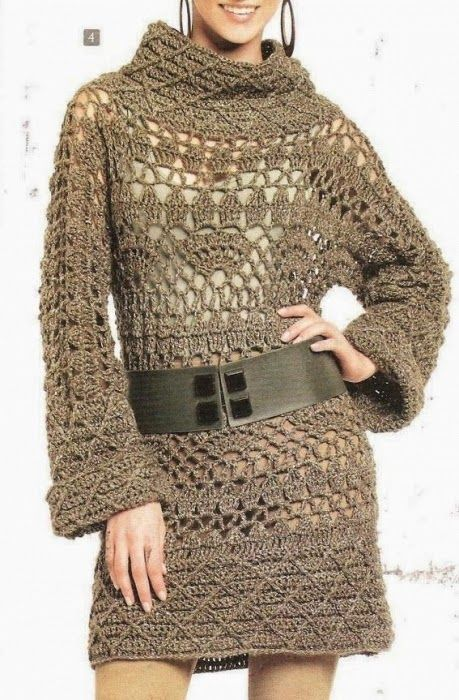 fc871172ce1 Crochet Stunning Winter Tunic Dress – Chart Explained