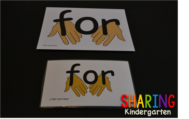 The sight word on the front is very visual... very appealing... very  meaning for the learner to gain understanding from. More so, the back of  the card ...