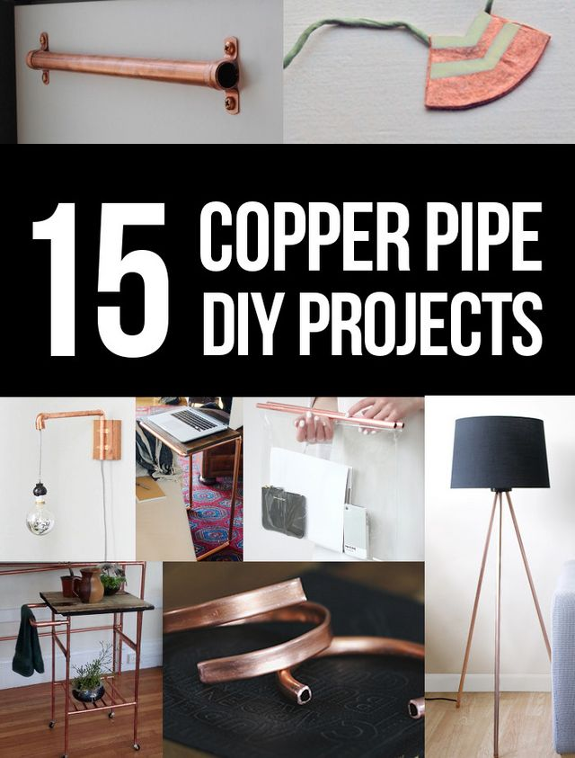 Diy copper pipe projects persia lou bloglovin for Copper pipe projects