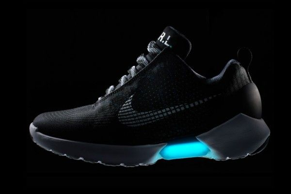 ... Nikes and E.A.R.L. automatically tightens to a form fit; adjustments to  tighten or loosen fit are available using two hidden buttons. The HyperAdapt  1.0 ...
