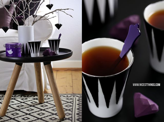 3d origami one coffe or tea cup with saucer origami   Etsy   477x640