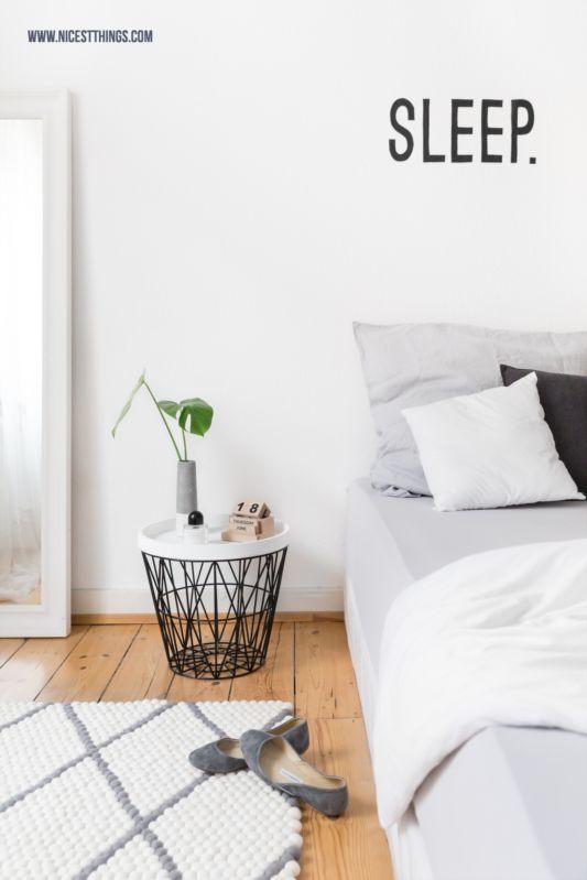 filzkugelteppich mit rautenmuster f rs schlafzimmer. Black Bedroom Furniture Sets. Home Design Ideas