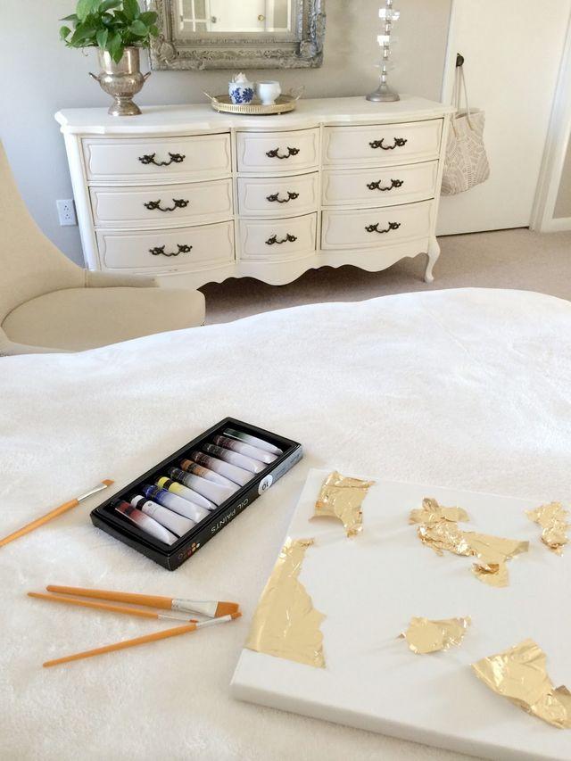 How To Make DIY Gold Leaf Abstract Art | LiveLoveDIY ... - photo #6