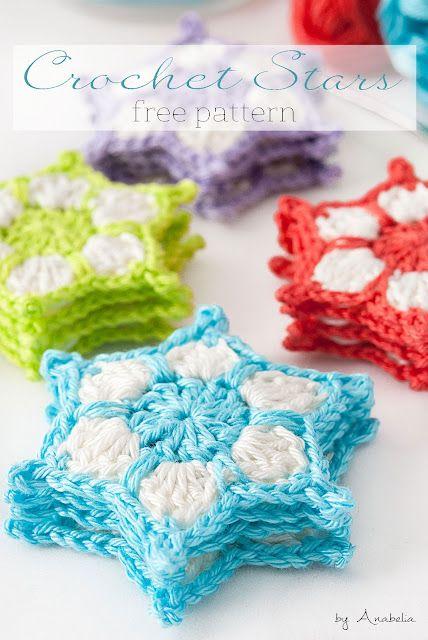 DIY: How to make a crochet stars garland - Reto amistoso nr. 71 ...