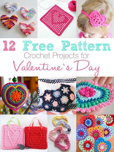 12 Free pattern crochet projects for Valentine\'s Day | Anabelia ...
