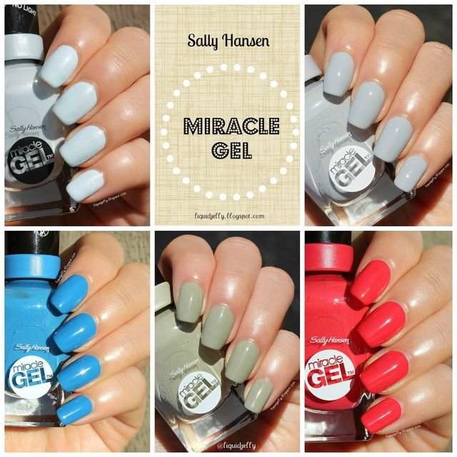 Review+Swatch] Sally Hansen Miracle Gel Color & Top Coat