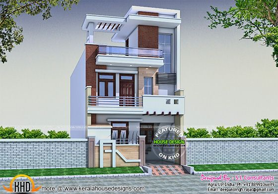20 Feet Home Front Elevation : Modern house design kerala home lovin