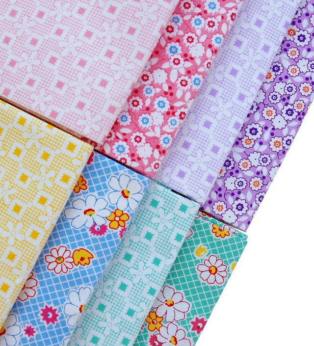 Colorful Fun Time Dotted Stripes Quilting Fabric by Yard #254