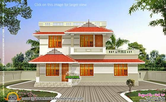 Kerala Style Low Cost Double Storied Home Kerala Home
