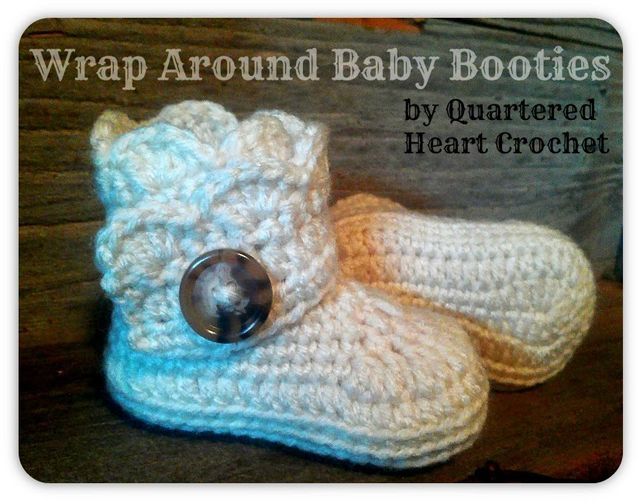 Crochet Baby Wraps Patterns : Free Crochet Pattern: Baby Wrap Around Boots (Pattern in 4 ...