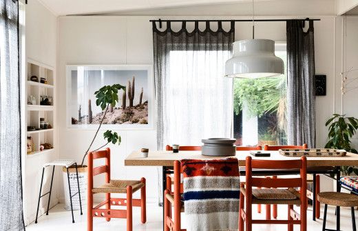The Dining Room Centres Around Bumling Pendant Purchased In Sweden IKEA Table And Carl Hansen Vintage Chairs From Modern Times Pictured With