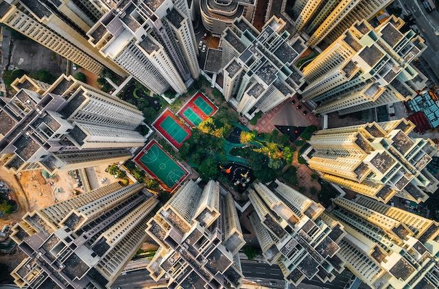 Photographer Andy Yeung Continues His Look At Hong Kong With A New Series Of Stunning Aerial Photographs Flying Drone High Over The Kowloon Walled City