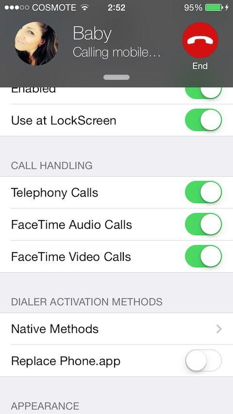 CallBar (iOS 7 & 8) 0 9-6 jailbreak tweak: Don't let