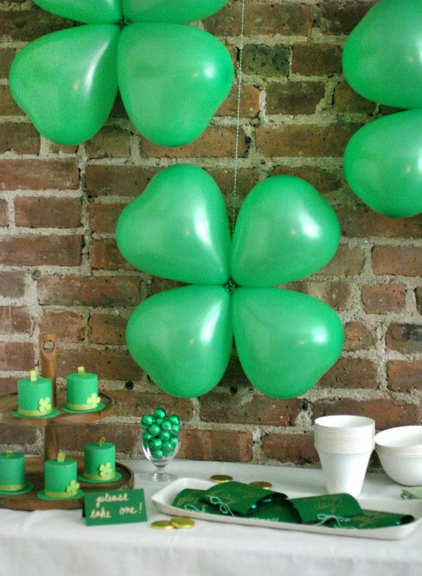 Shamrock balloons oh happy day bloglovin for B day decoration ideas