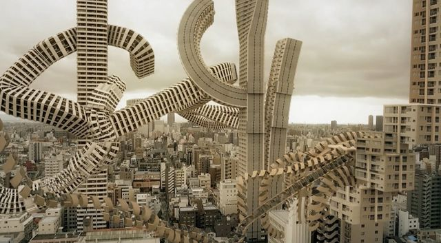 Spatial bodies osakas skyline transformed into a surreal spatial bodies osakas skyline transformed into a surreal architectural vision altavistaventures Image collections