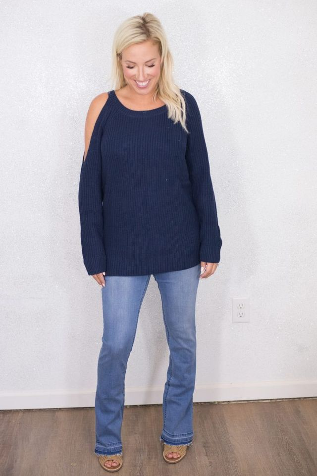 a5b78ca102e1 Wearing  Treasure   Bond Asymmetrical Cold Shoulder Sweater (my favorite  sweater from the sale
