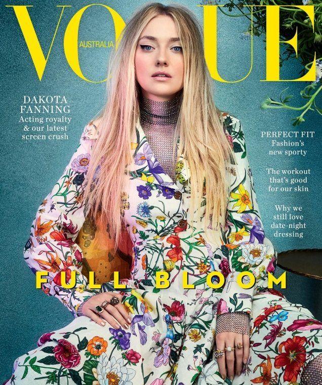 64dee328cc7 Dakota Fanning Finally Becomes a Vogue Cover Girl on Vogue ...