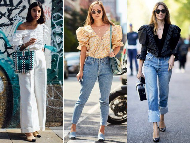 0cf4212a712 Puff-sleeve blouses have become pretty popular street style fare; Images:  Imaxtree