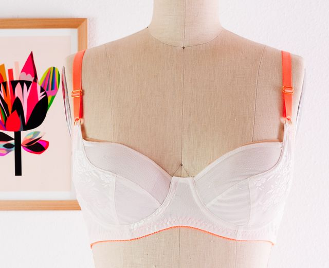 82e873f1e9 The cup has a classic seam design that is quite popular in ready-to-wear  wired bras and for good reason. It creates a fantastic silhouette!