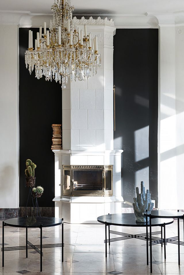 classy and chique apartment with a tile floor coco lapine design bloglovin. Black Bedroom Furniture Sets. Home Design Ideas